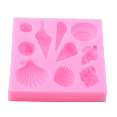 3D Seashells Silicone Mold Fondant Cake Decorating Tools Chocolate Mould TO