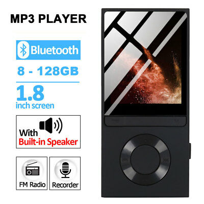 Portable 8GB MP3 Bluetooth MP4 lecteurs music Media clip Player USB 128GB TF OTG