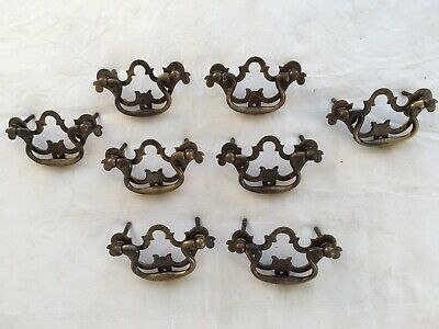 Set Of 8 Reclaimed Antique Brass Handles