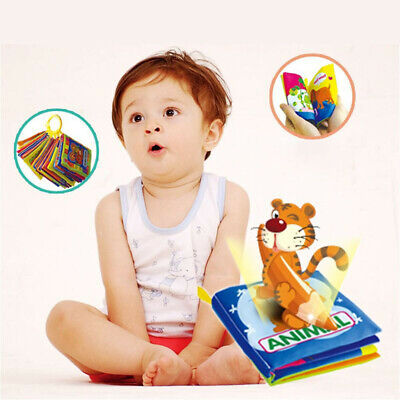 New Soft Cloth Baby Intelligence Development Learn Picture Cognize Books & Tools
