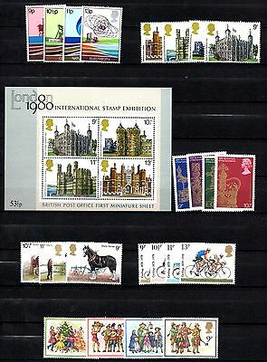 Gb Great Britain Complete Sets For 7 Years 1978/84 Inc Mini Sheets U/m/mint Mnh
