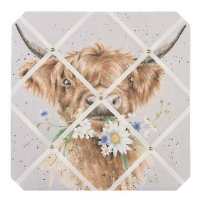 Memoboard, Pinnwand DAISY COO COW Kuh 40x40cm Wrendale Designs