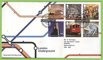 G.B. 2013 London Underground set on Royal Mail First Day Cover, Tallents House