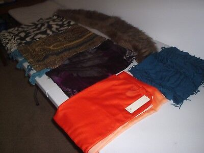 Job Lot Of 6 Ladies Quality River Island Scarves  Excellent Condition