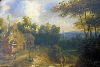 17th 18th Century Miniature Dutch Golden Age Oil Painting Jan Wijnants