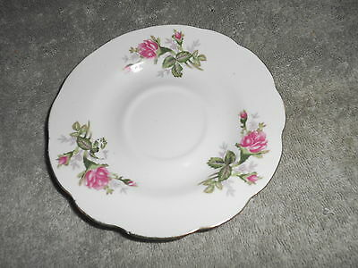 Vintage - China Saucer With Pink Flowers