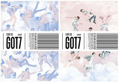 GOT7 [FLIGHT LOG:DEPARTURE] 5th Mini Album CD+PhotoBook+Ticket+2Card+GIFT SEALED