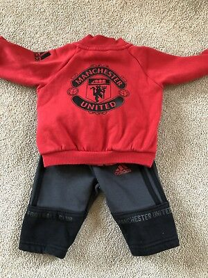 Adidas Manchester United Baby Tracksuit - 0-3M