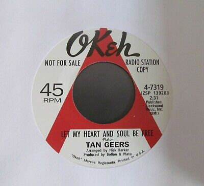 "TAN GEERS Let My Heart And Soul Be Free/MAJOR HARRIS Call Me Tomorrow 7"" Single"