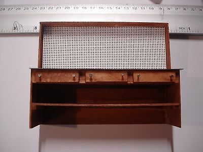 1/18 scale - Wooden WORKBENCH w/attached pegboard YOUR SHOP/GARAGE/DIORAMA