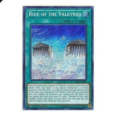 Yugioh Ride of the Valkyries - SHVA-EN006 - Secret Rare 1st Edition NM