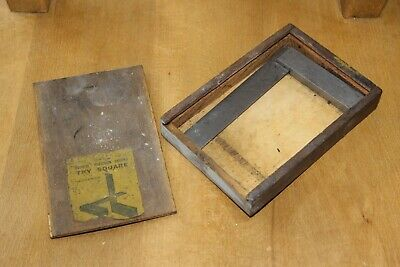 Antique Moore Wright Moorite No 402 Engineers Try Square in Box