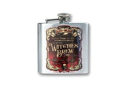 Witches Brew Stainless Steel Flask 8oz Halloween Poisons & Potions Gift