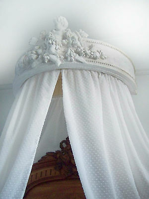 French style bed ciel de lit half tester bed canopy vintage Chateau chic.