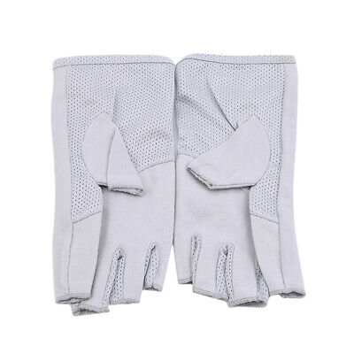 Women Men Thin Anti-skidding Fingerless Gloves Half Finger Gloves shan