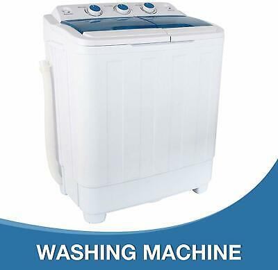 17Ibs Portable Washing Machine Compact Twin Tub Washer & Spin Dryer Dorm