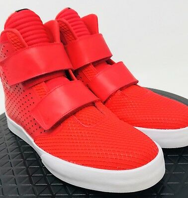 huge selection of fedbe fff4e Nike Flystepper 2K3 Red High Top Shoes Straps Action Men s 10.5 Sneakers New
