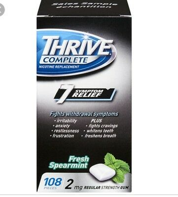 CLEARANCE!! Thrive nicotine gum 2mg-324 pieces(3 pack)-fresh spearmint flavor