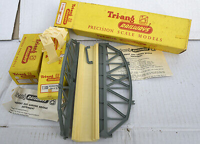 Triang Tt Boxed  Girder Bridge And 2 Boxes T105 Track Supports