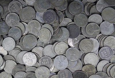 1500 Wheat STEEL CENT 1943 p d s Mint 30 Rolls Penny Cent FIFTEEN HUNDRED Coins
