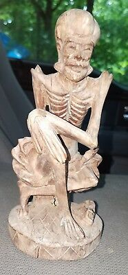 Antique chinese statue wood carving
