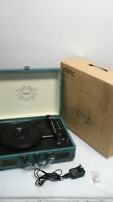 WOCKODER PORTABLE RECORD Player Bluetooth 3speed Turntable