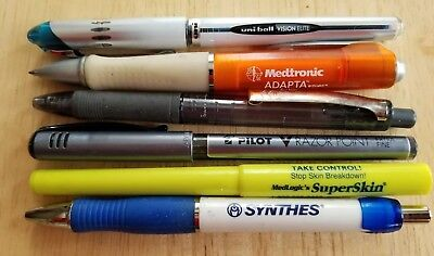 RARE pen lot Medtronic Adapta Uniball Pilot Medlogic Superskin Papermate Synthes