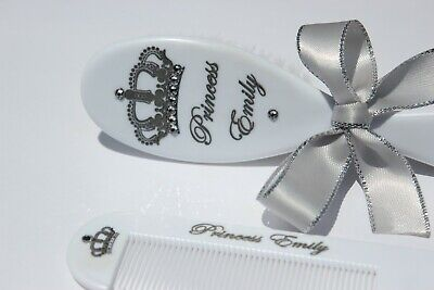 Personalized Baby Brush & Comb Set Personalized Gift, MADE WITH SWAROVSKI GEMS