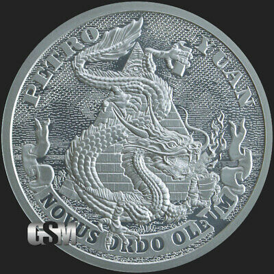 2019 1oz Petro Yuan BU Silver Shield MiniMintage Death of the Dollar PRE-SALE