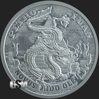 2019 1oz Petro Yuan BU Silver Shield MiniMintage Death of the Dollar IN-STOCK!!