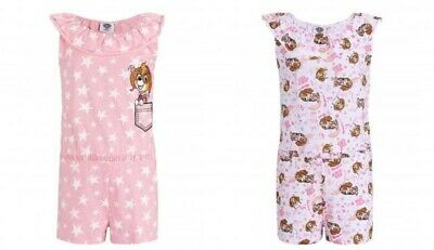 Playsuit overall Paw Patrol one piece summer set outfit cotton pink girls