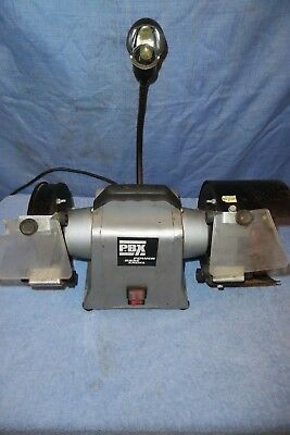 Quality Bench Grinder With 2 Wheels, Wire Brush & Work Light