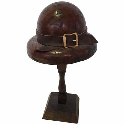 English Doll's Wood Hat Mold on Stand, Circa 1920s-1940s, #199