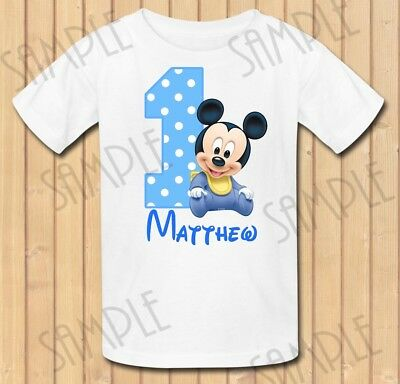 Personalized Mickey Mouse Birthday Boy Shirt Add Name Age For Family Members