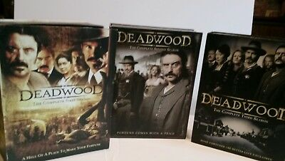 DEADWOOD 1 2 3 full seasons 18 discs DVD