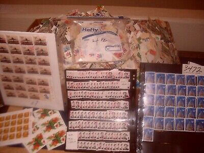 Us Stamp Lot 4Oz 1890-2018 Mixed Off Paper