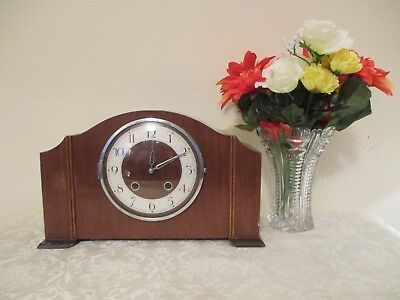 Art Deco  French Vadette Striking Mantle Clock ( Working ) With On Off Switch