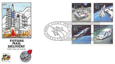 C122-25 45c Futuristic Mail Delivery, Collins H/P Hand Painted [E463528]