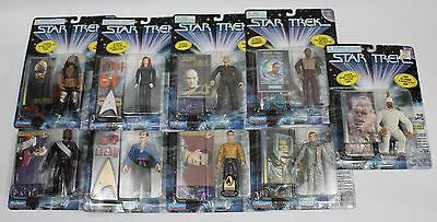 NIB Lot Of 9 Star Trek Playmates Action Figures - Rare Chase, DS9 Uniform, Pike