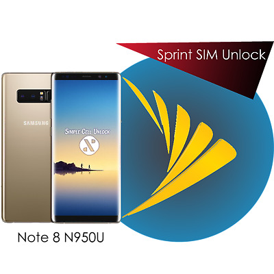 Sprint Galaxy Note 8 SIM Network Unlock Remote Service INSTANT Boost US Cellular