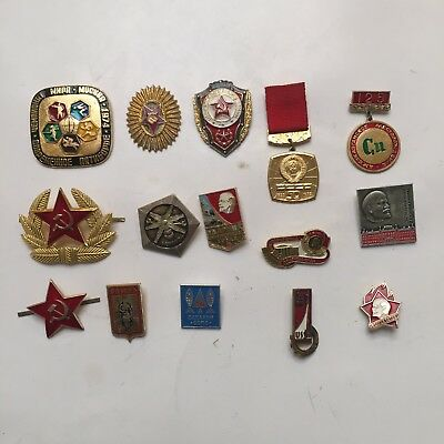 Vintage Russian/Soviet Union/USSR Collectible Pins ~ Set Two