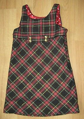 d23bb08d5740 The Children's Place Red Plaid Holiday Christmas Jumper Dress Girls Size  6-Gold