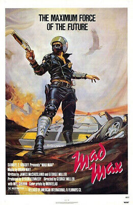 Mad Max (1979) original movie poster - single-sided - tri-folded