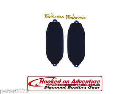 2 x Fender Covers - Single  Thickness BLACK 700mm x 240mm