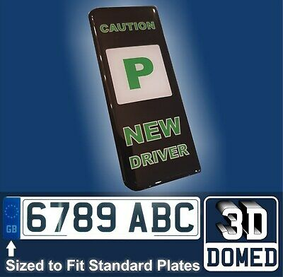 New Driver Just Passed Green P Car Number Plate GB Side Badge Sticker Sign Decal