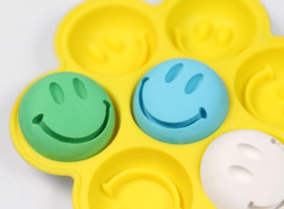 Smiley Seven balls Silicone soap Mould plaster Mold