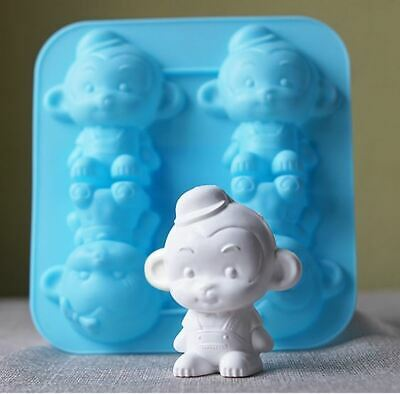 4 Balls monkeys Silicone soap Mould plaster Mold