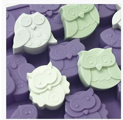 Owl 12 balls Silicone soap Mould plaster Mold