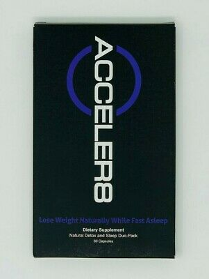 BEpic Acceler8 - 60 Capsules Lose Weight Naturally Detox & Sleep Duo-Pack B Epic