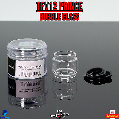 Official Smok Tfv12 Prince 8ml Bubble Glass, Fatboy Bulb Spare O Rings + Case